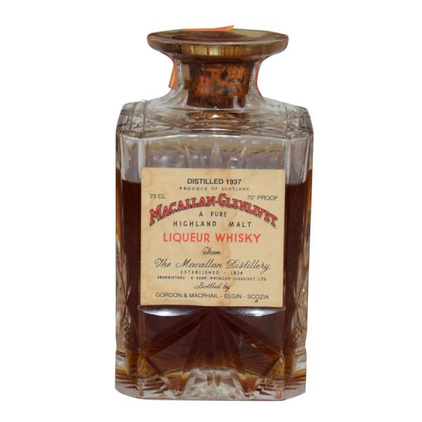 Macallan Glenlivet 1937 Decanter